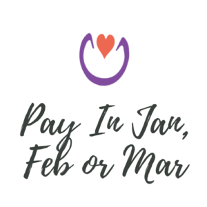 Pay in Jan, Feb or Mar