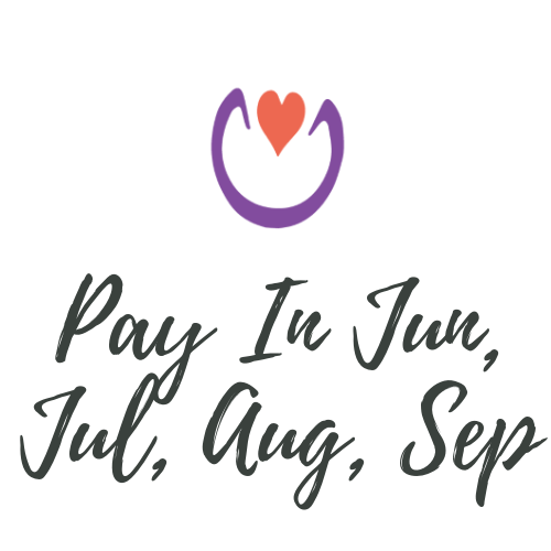 Pay in Jun, Jul, Aug, Sep