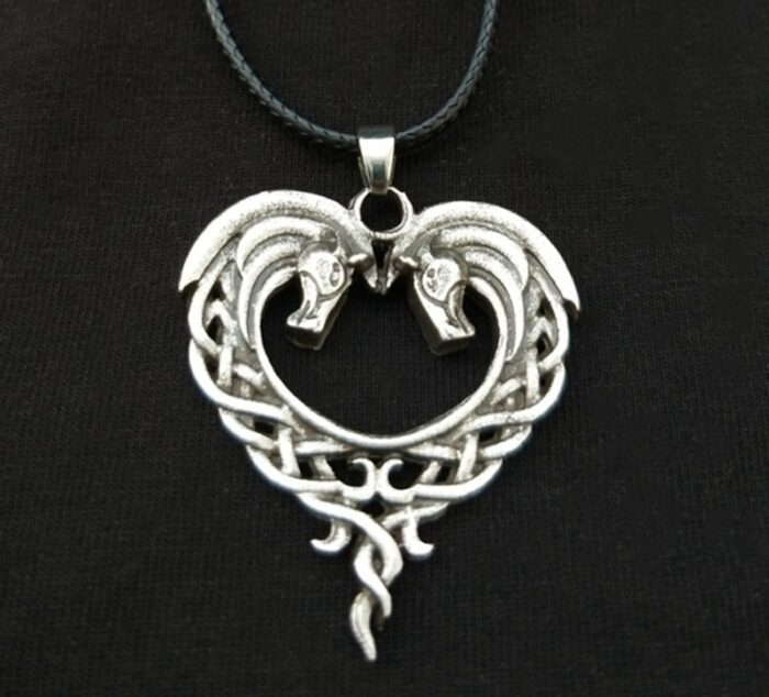 celtic silver horse necklace