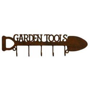 metal garden decor hooks rack gift
